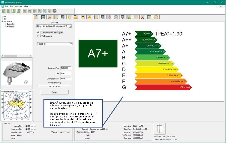 LTS4D Pv - Nuevo sistema de evaluación de la eficiencia energética de los dispositivos IPEA * Según el Decreto del Ministerio de Medio Ambiente 27 de septiembre de 2017