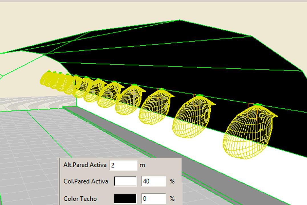Inserción de 2 niveles en las interreflexiones de las paredes del tunel