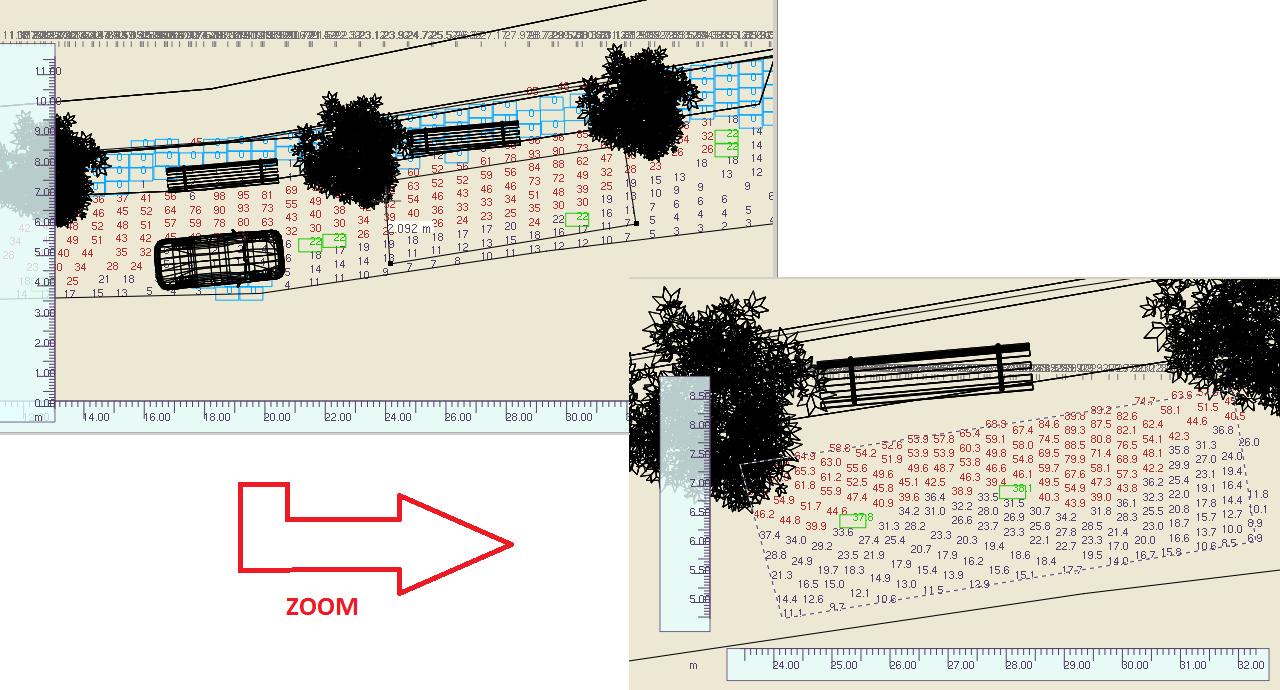 Zoom de planos de trabajo una vez calculado el proyecto