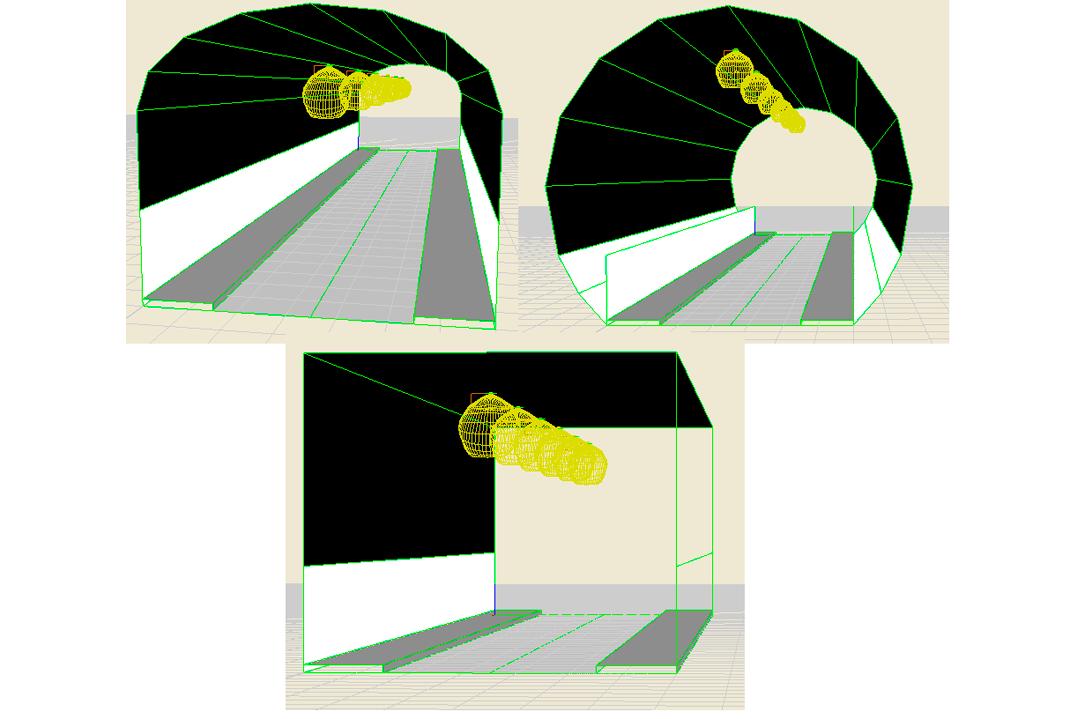 Vista 3D del tunel