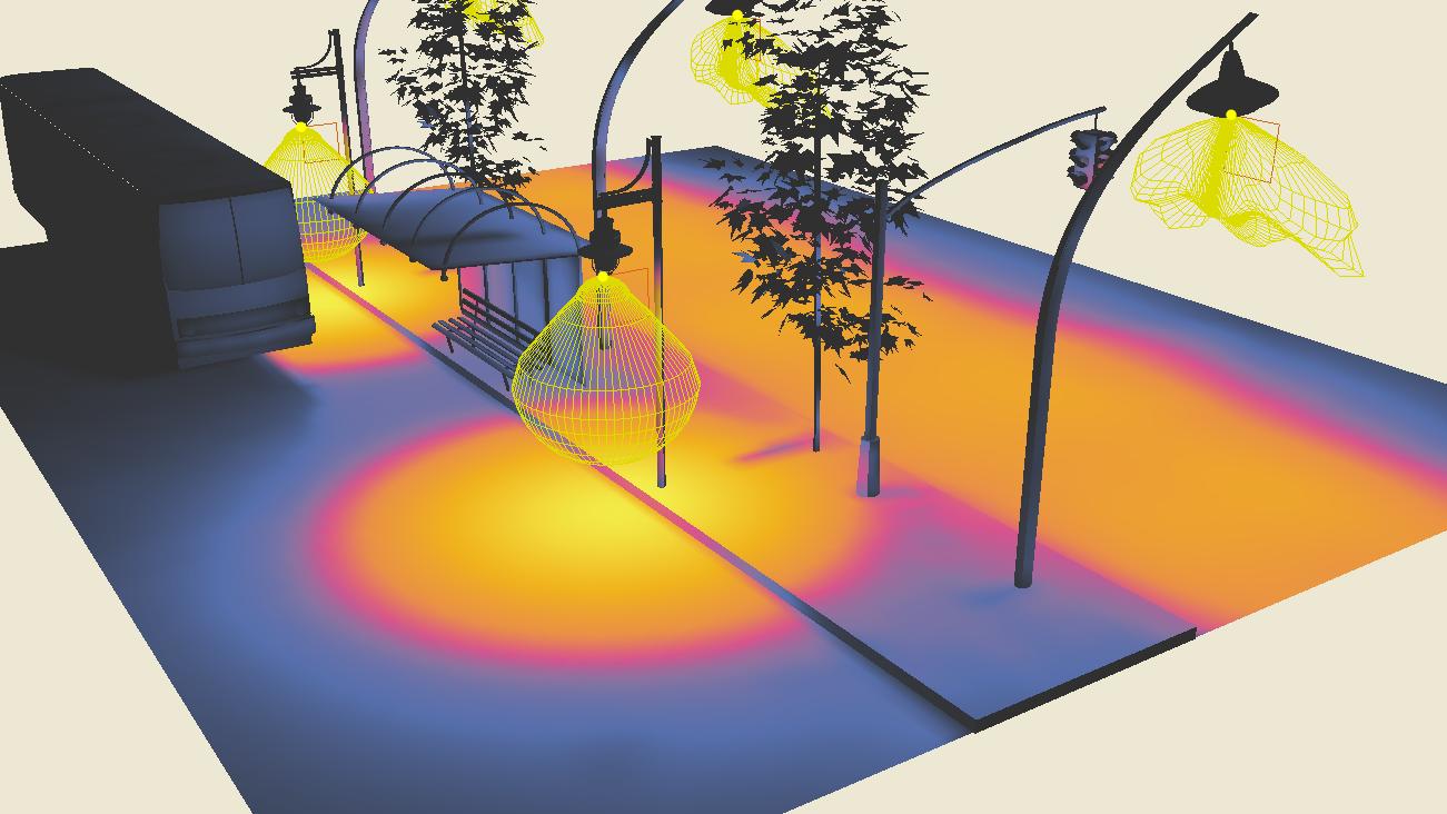 Insertar fotometrías en formato OXL con el 3D de la luminaria