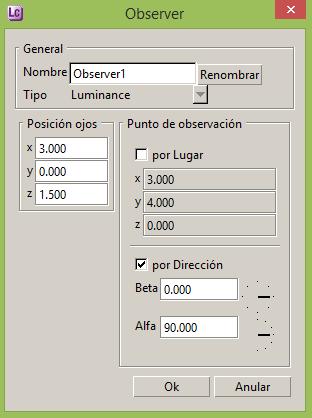 Calculo del UGR en función del observador