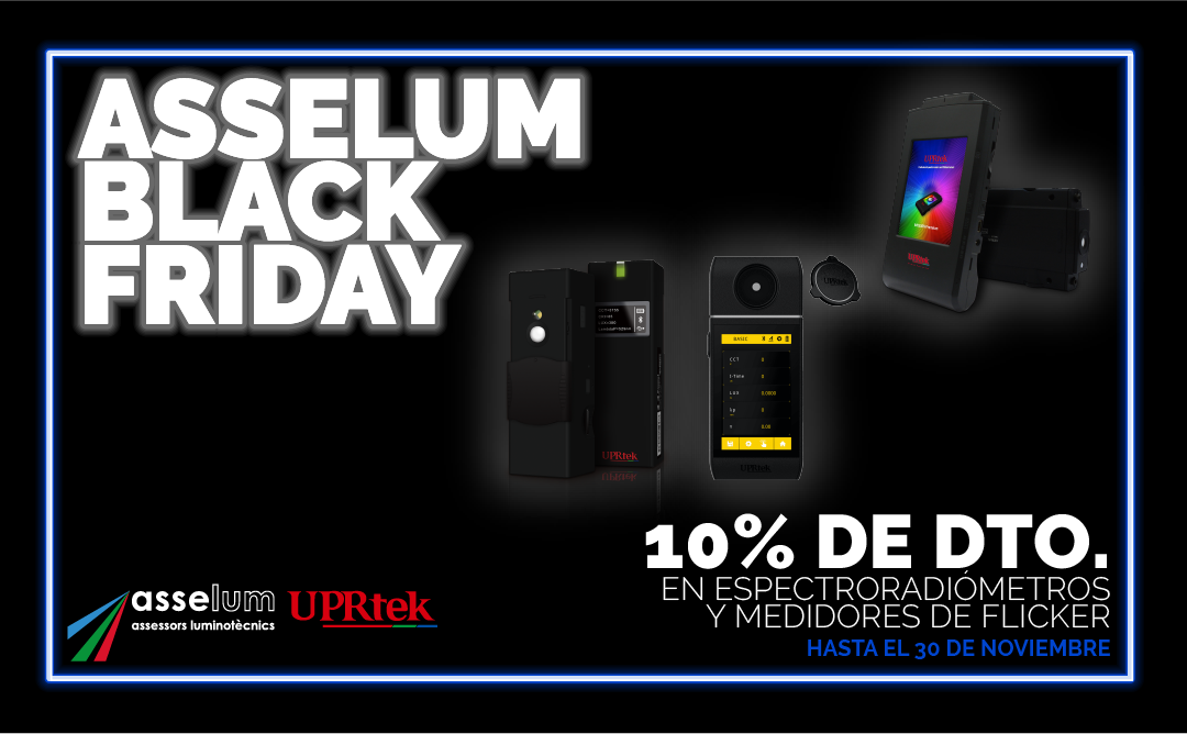 Discount on Spectrometers and Flicker Meters on Asselum Black Friday